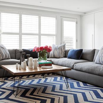 Gray Sectional, Contemporary, living room, Jennifer Worts Design