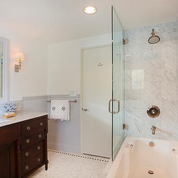 Gray Beadboard, Transitional, bathroom, Thea Home Inc