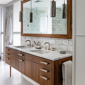 Mid Century Modern Vanity, Vintage, bathroom, Damon Liss Design
