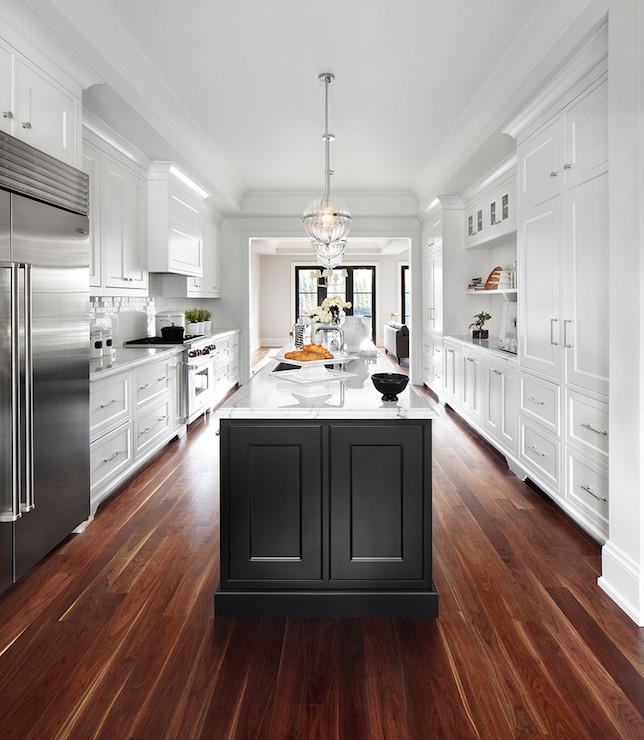 Long Kitchen Cupboards: Long Black Kitchen Island Design Ideas