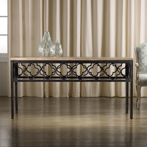 Hooker Furniture Melange Cassara Black Console Table