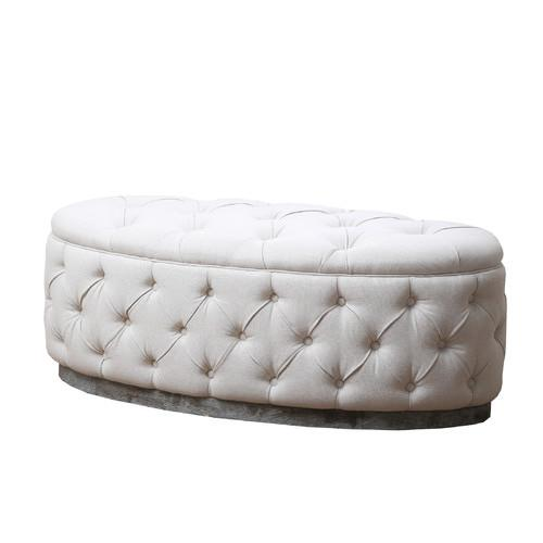 Incredible Beachwood Beige Ottoman Bench Andrewgaddart Wooden Chair Designs For Living Room Andrewgaddartcom