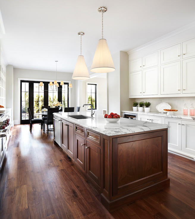 Chocolate Brown Island  Transitional  kitchen  The Design Company