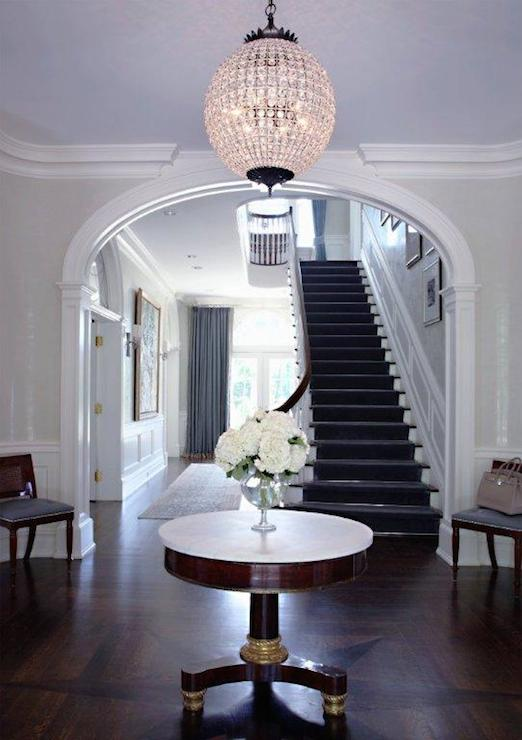 Round Foyer Table Traditional Entrance Foyer Sb Long
