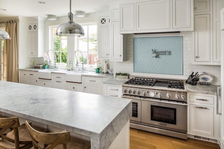 Robins Egg Blue Tiles - Cottage - kitchen - Sherwin Williams Retreat ...