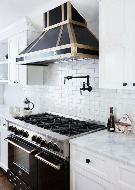 Black Stove Contemporary Kitchen Benjamin Moore