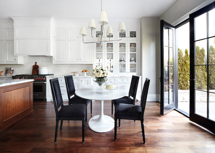kitchen with oval dining table design ideas Breakfast Table in Kitchen