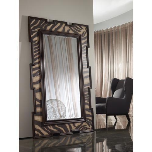 Brown Swivel Floor Mirror