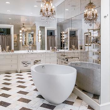 Mirrored Bathroom Etagere Design Ideas Page 1