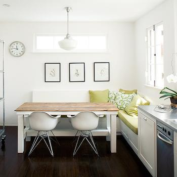 L Shaped Banquette, Contemporary, kitchen, Michael Wells