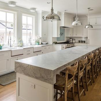 Waterfall Edge Countertop, Transitional, kitchen, Benjamin Blackwelder Cabinetry