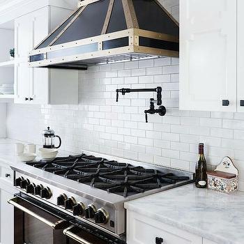 Black Stove, Contemporary, kitchen, Benjamin Moore Decorators White, Lonny Magazine
