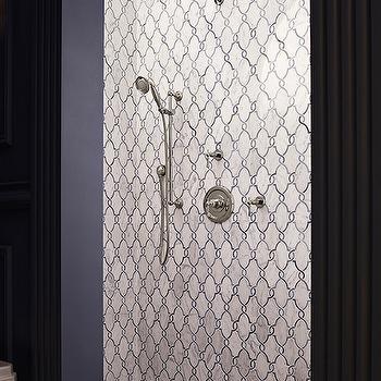 Arabesque Shower Tiles, Mediterranean, bathroom, The Legacy Building Co
