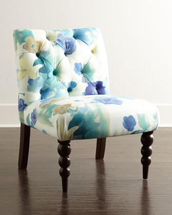 Paradiso Blue And Yellow Armless Chair