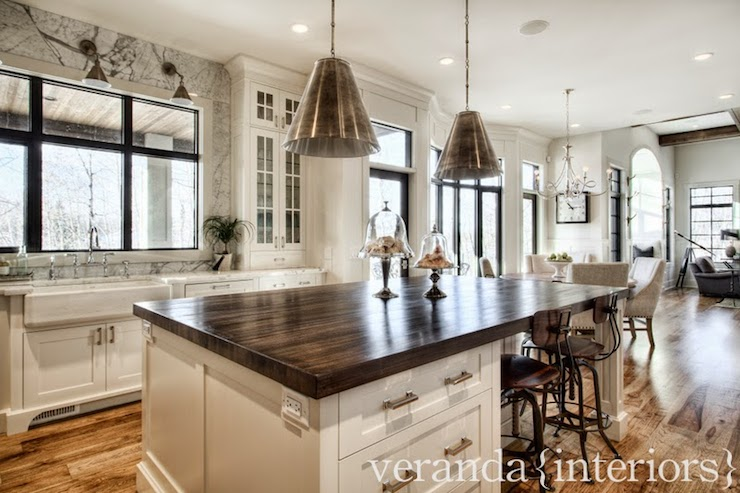 Butcher Block Island Countertop - Transitional - kitchen - Veranda Interiors