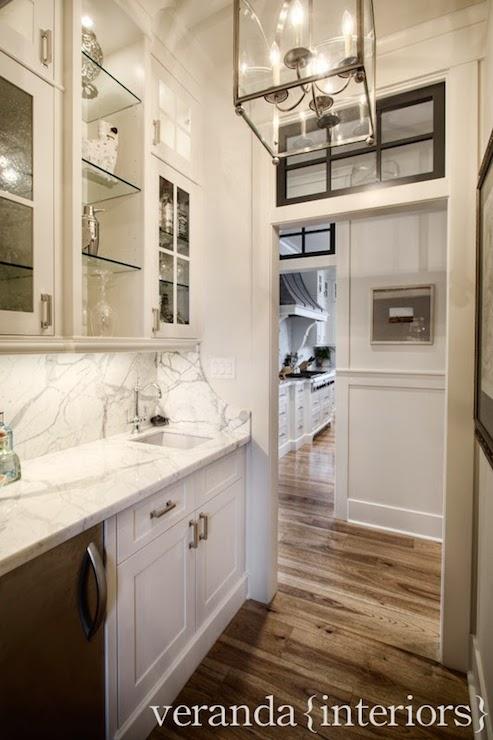 Butlers Pantry Sink Transitional Kitchen Veranda