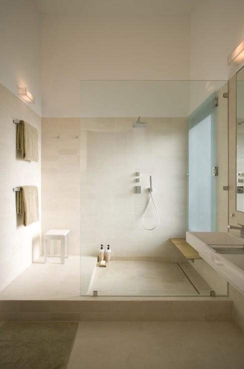 Floating Teak Shower Bench Design Ideas