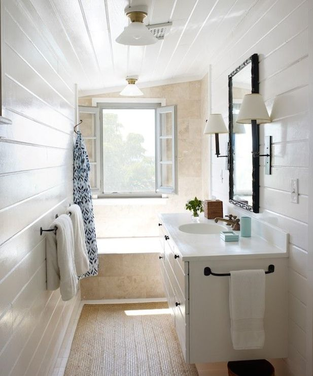 Narrow Bathrooms Cottage Bathroom Tom Scheerer