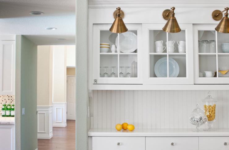 Sliding Glass Kitchen Cabinets Design Ideas