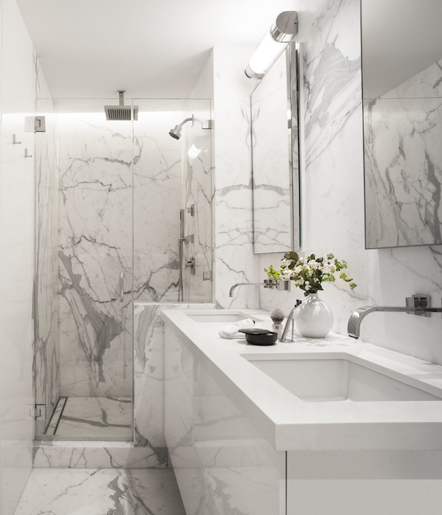 Lacquered Washstand Modern Bathroom Sutro Architects - Marble slab bathroom