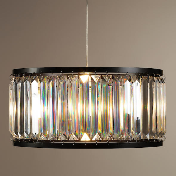 Restoration hardware welles clear crystal chandelier look for less view full size aloadofball Images