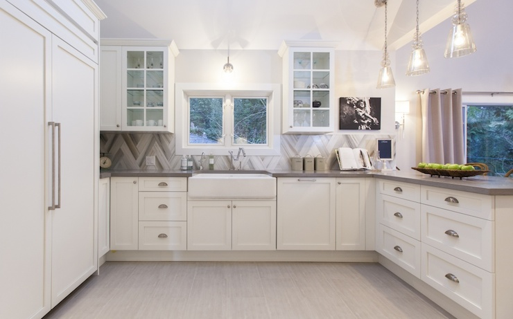 Love It or List It  Gorgeous kitchen features creamy white cabinets