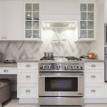Chevron Backsplash Contemporary Kitchen Behr Silver
