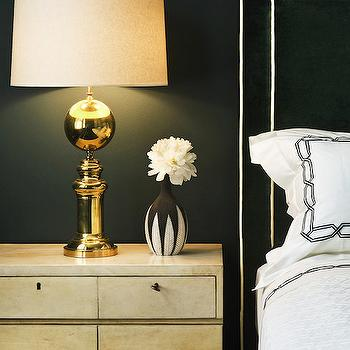 Black and White Headboard, Contemporary, bedroom, Morris and Woodhouse