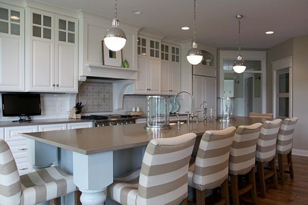 Patterned Taupe Counter Stool Design Ideas