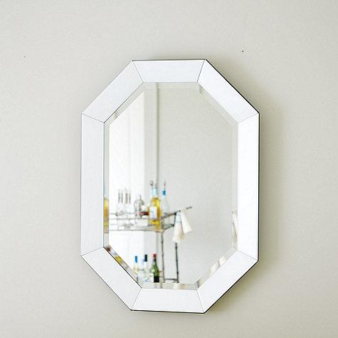silver glass frame mirror