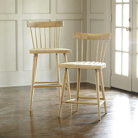 Gray Tapered Legs Curved Back Barstool