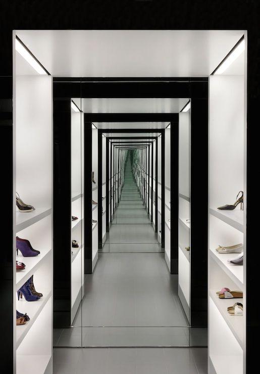 Built in closet shoe shelves design ideas for Walk in shoe closet