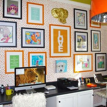 Shared Desk Ideas, Contemporary, girl's room, Holly Hollingsworth Phillips