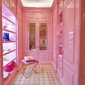 Pink Closets, Contemporary, closet, Peacock Cabinetry