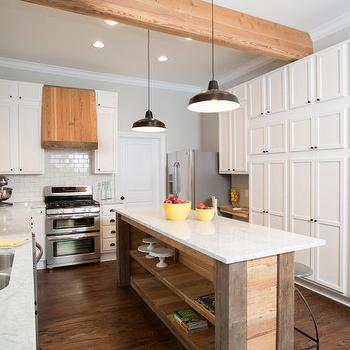 Reclaimed Wood Stove Hood, Country, kitchen, HGTV