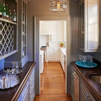 Warm Gray Lower Cabinets Design Ideas - Warm gray cabinets