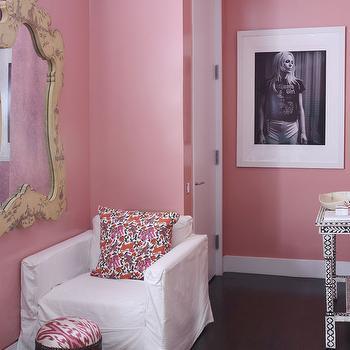 Bone In lay Mirror - Cottage - entrance/foyer - Lynn Morgan Design