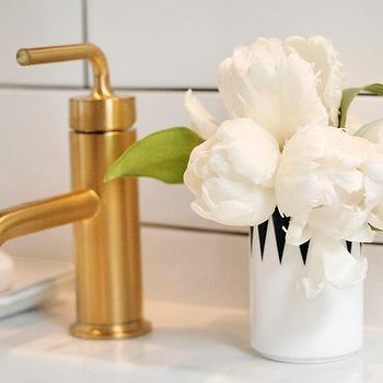 Brushed Gold Bathroom Faucet Design Ideas - Gold faucets bathroom fixtures