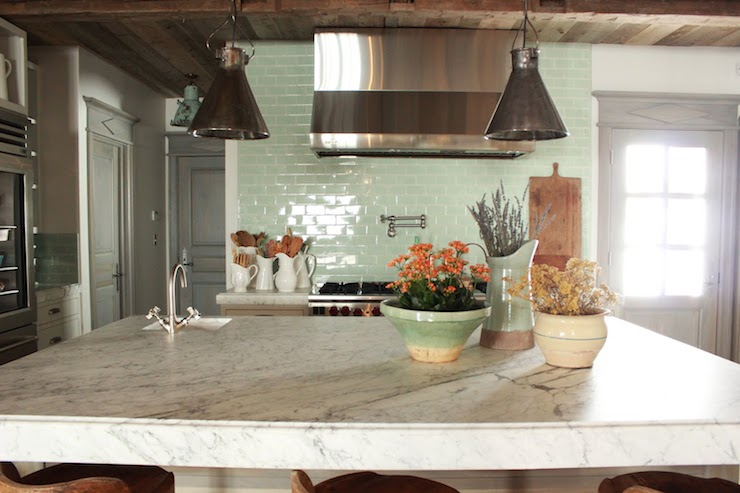 Seafoam Green Kitchen Backsplash Tiles Design Ideas