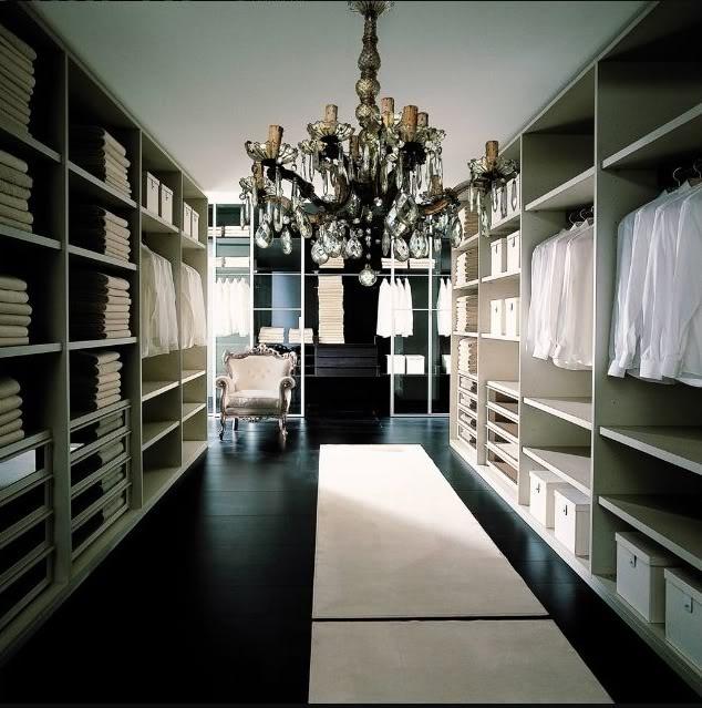 Closet Chandeliers Transitional Closet