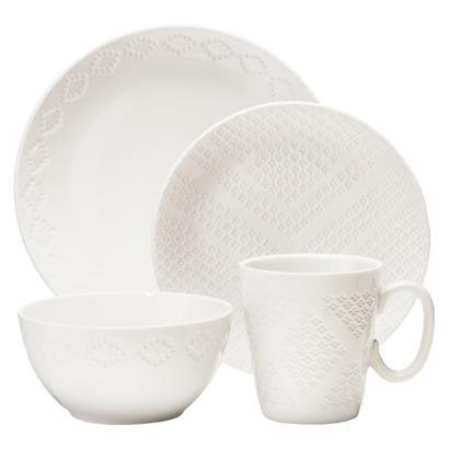 sc 1 st  Decorpad & Nate Berkus Textured Diamond 16-Piece White Dinnerware