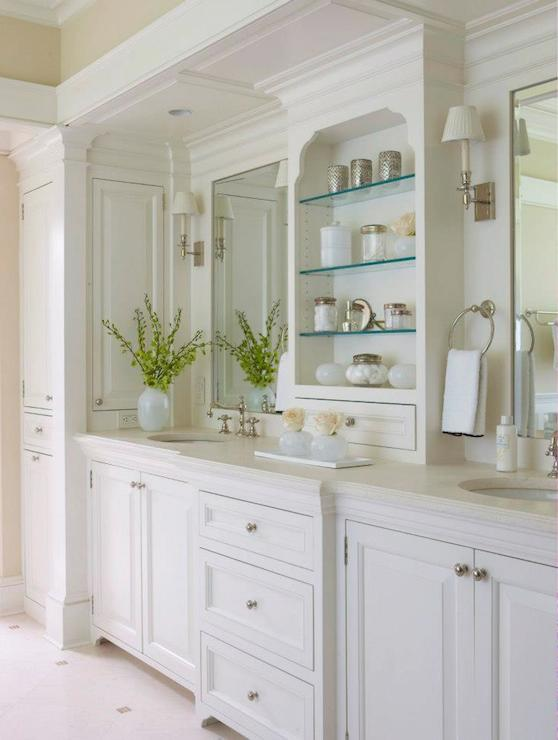 Built In Bathroom Vanity Design Ideas