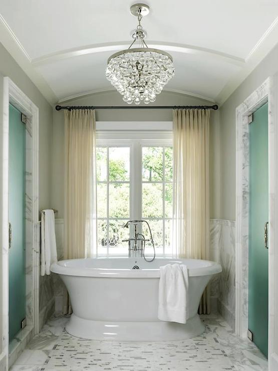 Barrel Ceiling Transitional Bedroom Sherwin Williams