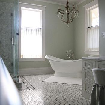 Corner Freestanding Bathtub Country Bathroom