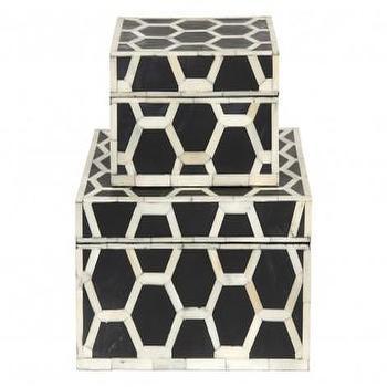 Black And White Bone Boxes