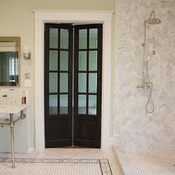 Open Walk In Shower, Transitional, bathroom, Urban Grace Interiors