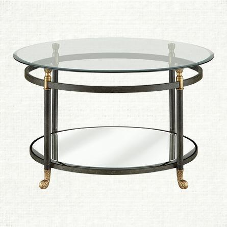 Clear And Black Glass Coffee Table