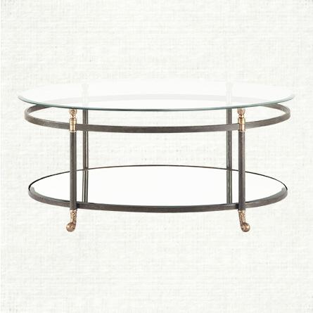 brass oval coffee table