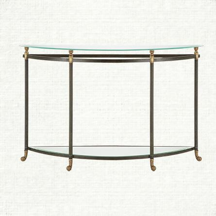 2fabe025f512 Charlotte Demilune Grey Console Table
