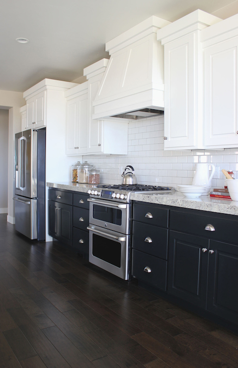 Two Tone Countertops - French - kitchen - Cote de Texas